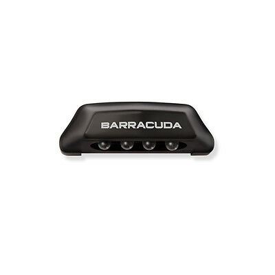 LIGHT LICENSE PLATE BARRACUDA 4 LED ALUMINUM HOMOLOGATED BLACK TRIUMPH