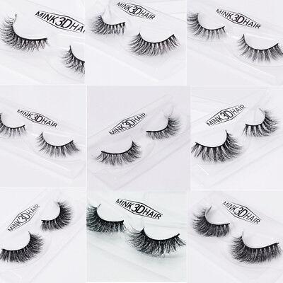 16 Style Mink Black Soft Long Thick/Sparse Eye Lashes False Eyelash Extension US