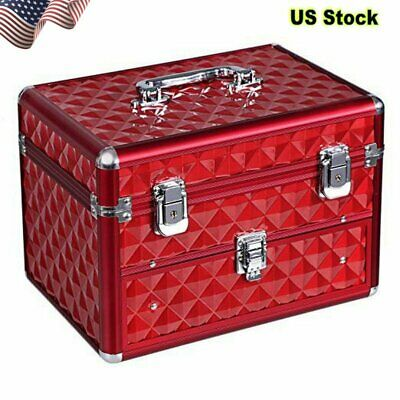 Makeup Train Case with 24 compartments Nail polish storage 1 Drawer Professional for sale  USA