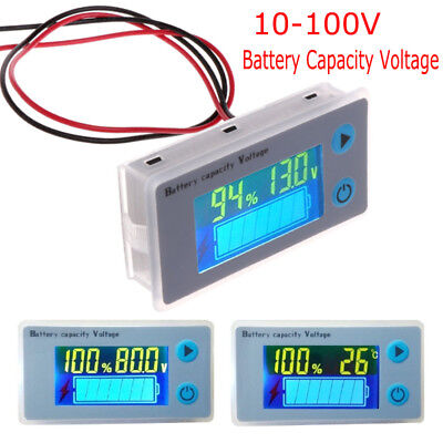10-100V LCD Battery Capacity Indicator Digital Voltmeter Voltage Tester Monitor