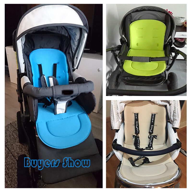 CALISTOUK Baby Stroller Pad Mat Breathable Cushion Liner Prams Buggy Carseat Chair Pushchair Travel for Infants Khaki