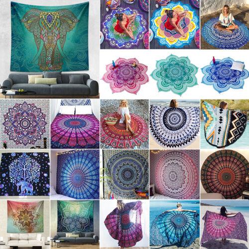 Boho Indische Mandala Tapisserie Hippie Wandbehang Strand Handtuch Deko Matte
