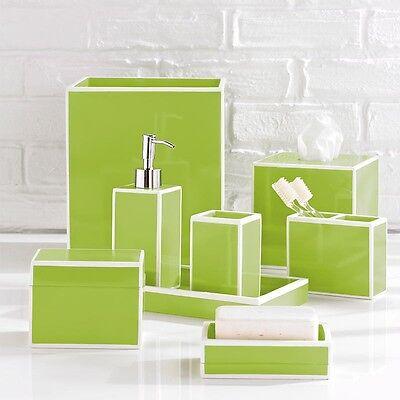 Kassatex Soho Green 6-Piece Bathroom Accessories Set - Resin