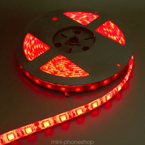 Waterproof RED Boat Accent Light 5050 300 SMD LED Lighting Strip 16 ft 5M DC 12V