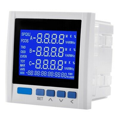 1xyg889e-9sy Three-phase Multifunction Lcd Digital Volt Amp Power Meter Energy