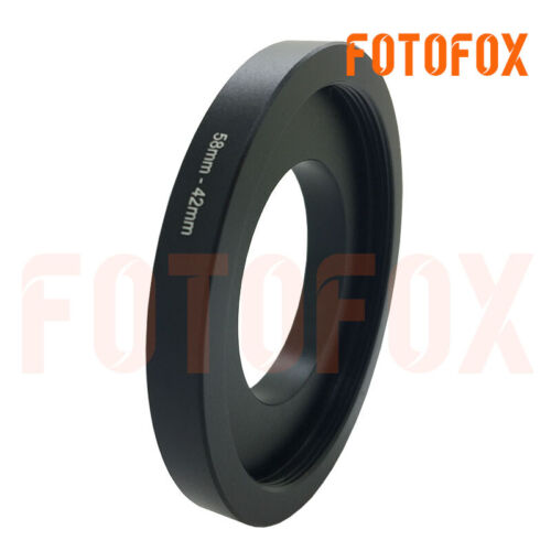 M58-M42 M42 Male to Female M58 42mm to 58mm step Ring Adapter DIY For Lens 7.5mm