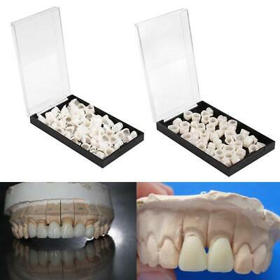 2 Boxes Dental Oral Temporary Anterior Teeth Crown Caps Tooth Synthetic Resin