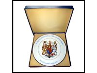 WOODS & SONS HRH The Prince of Wales and Lady Diana Spancer wedding plate & box.