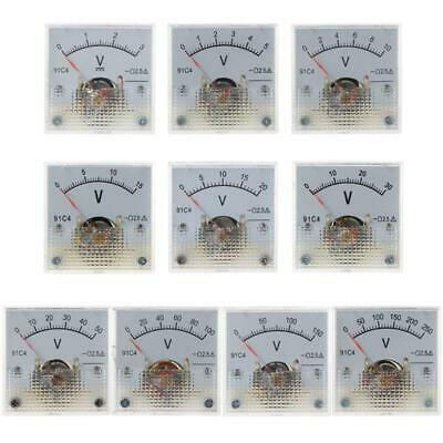 91c4 Dc Voltmeter Analog Panel Meter Mechanical Pointer Type 351050150250v