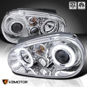 For 1999-2006 VW Golf GTI MK4 / 99-02 Cabrio Projector Headlights Chrome