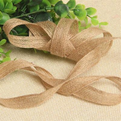 Hessian Burlap Ribbon Lace Trims Edge Natural Jute Tape Wedding Party Supply