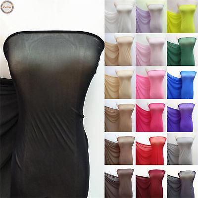 Solid Power Mesh Fabric 4 Way Stretch Nylon Lycra Spandex Dance Swimwear Dress Quilted Nylon Fabric