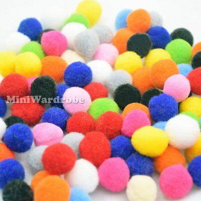Assorted Color Fluffy Fuzz Felt Pompoms Pom Pom Ball Craft Project Wholesale Lot