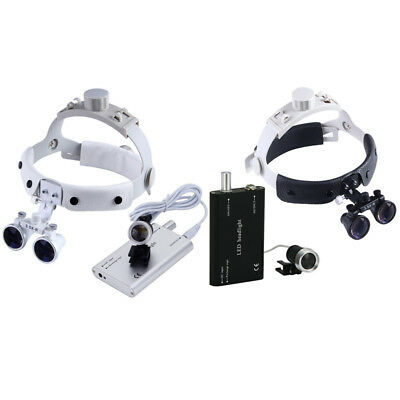 Dental 3.5x Loupes Surgical Binocular Glass Medical Magnifier W Led Head Light