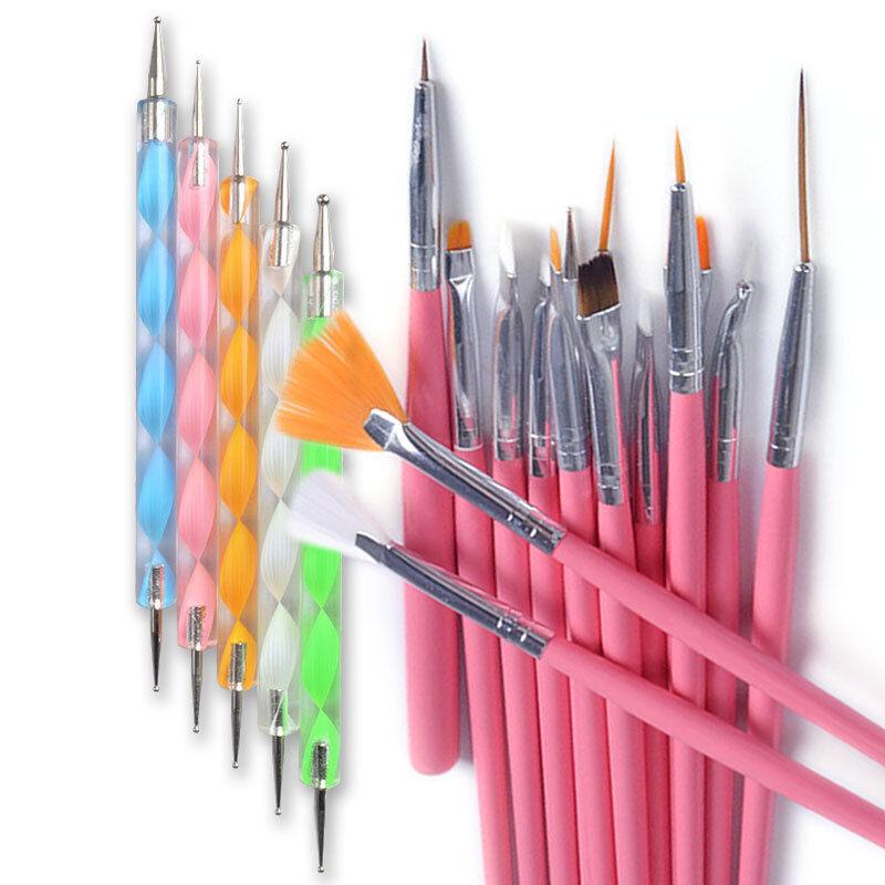 Nail Art Using Dotting Tool: 20PCS Womens Nail Art Design Dotting Painting Drawing