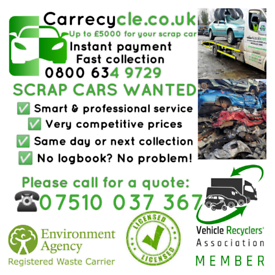 Scrap Car Collection 0800 634 9729