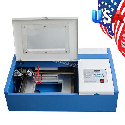 High Precise 40w Co2 Usb Laser Engraving Cutting Machine Engraver Wood Cutter Us