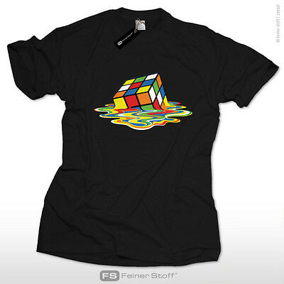 Melting Cube Sheldon's Fan T-Shirt as seen@ TV Nerd big bang theory Zauberwürfel