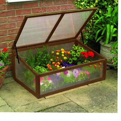 Wooden / Timber & Polycarbonate Plant Cold Frame / Garden Greenhouse by Gardman