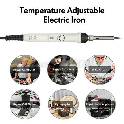 Electric Soldering Iron Adjustable Temperature Welding Tool 110v 60w With