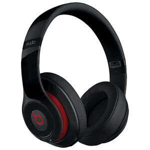 Beats by Dre Wired Studio Headphones w/ Case - Black/Red
