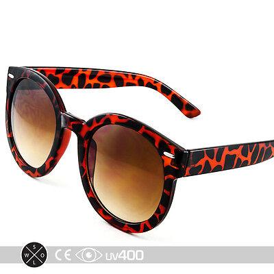 Tortoise Unisex Modern Nostalgic Round Sunglasses P3 Indie Gradient Lens (Nostalgic Sunglasses)
