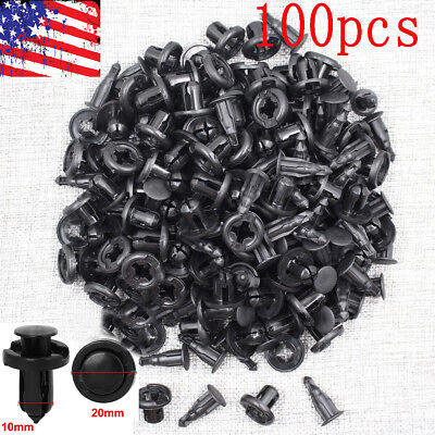 100x New Bumper Hood Fender Splash Guard Fastener Retainer Clips for Honda Acura