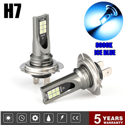 Pair H7 160W LED Fog Light Headlight Bulbs Car Driving Lamp DRL 8000K ICE BLUE, used for sale  Shipping to Ireland