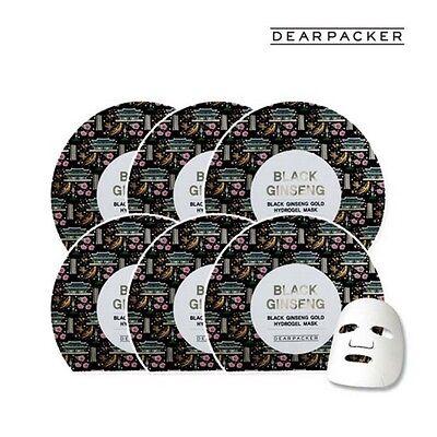 [DearPacker] Black Ginseng Gold Hydrogel Mask 6pcs