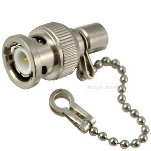 BNC-Male-PLUG-TERMINATOR-50-OHM-WITH-CHAIN-Adapter