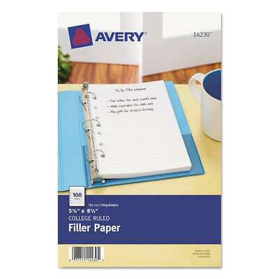 Avery Mini Binder Filler Paper 5-12 X 8 12 7-hole Punch Col 077711142305