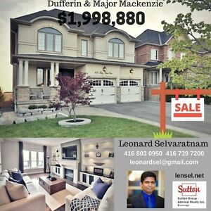 Gorgeous Vaughan home for sale - backs up to pond - modern built