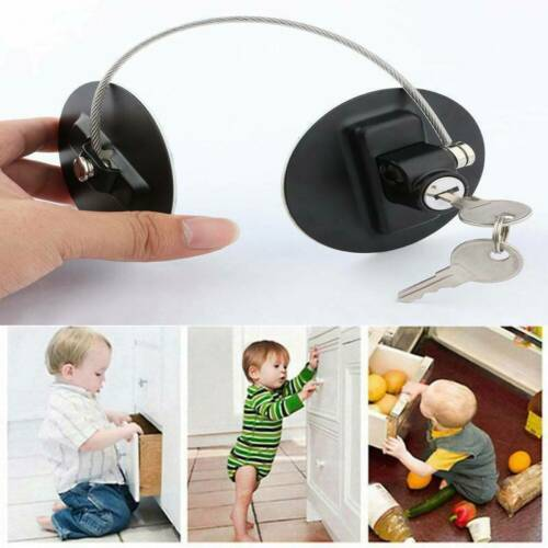Child Kids Baby Safety Cabinet Drawer Anti Lock Pet Proof Door Fridge Cupboard