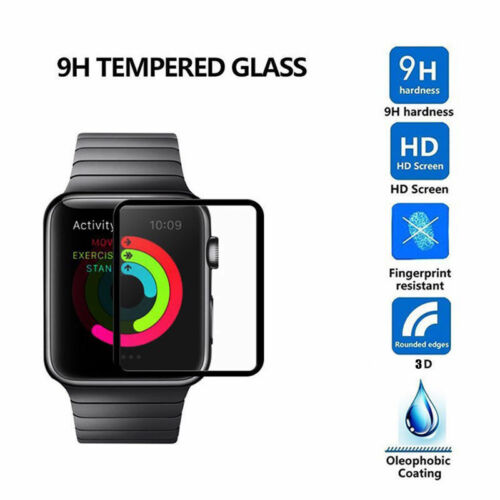 Tempered Glass Screen Protector Edge Apple Watch Series 3 38/42mm iWatch