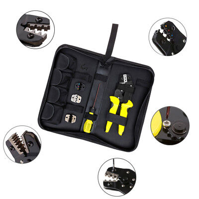 4in1 Wire Crimper Tools Kit Engineering Ratchet Terminal Crimping Terminal Plier