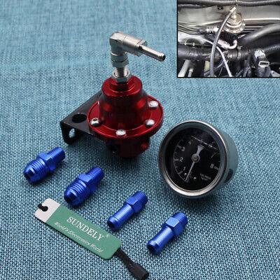 High Performance Car Pressure Gauge Adjustable Fuel Pressure Regulator Red