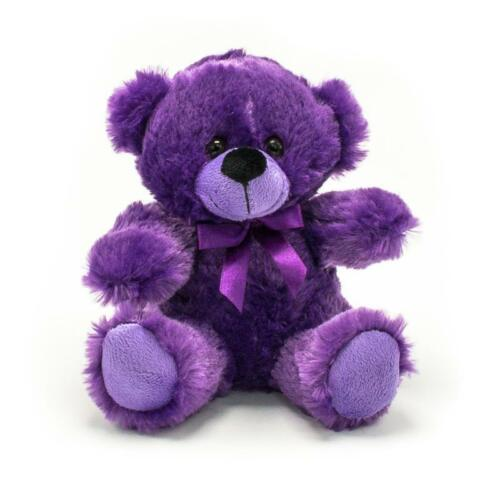 "6"" Purple Plush Teddy Bear Stuffed Animal Toy Gift New"