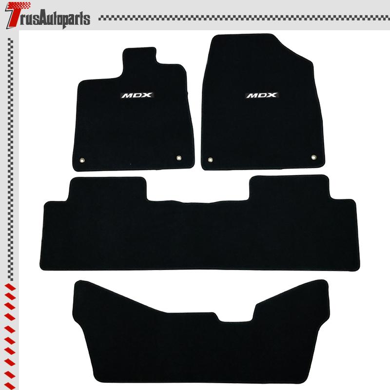 For 14-16 Acura Floor Mat MDX 4Dr Black Nylon Carpet Front