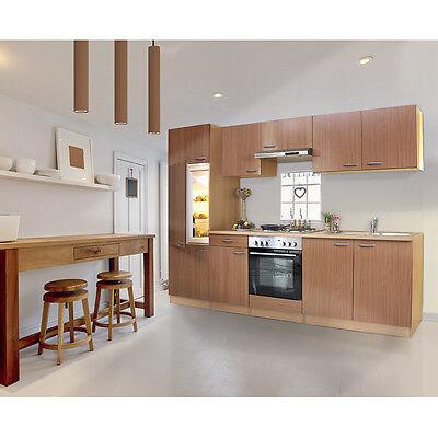 Respekta küche küchenzeile küchenleerblock leerblock 270cm front korpus buche