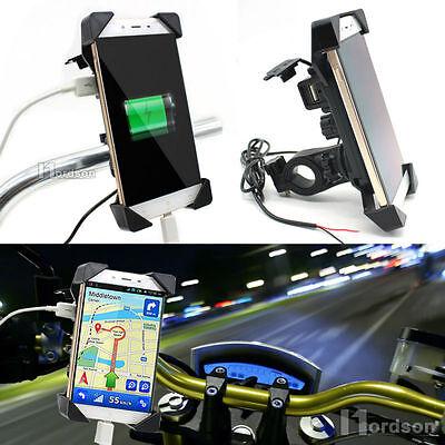 New RAM Motorcycle Bike Car Mount Cellphone Holder USB Charg