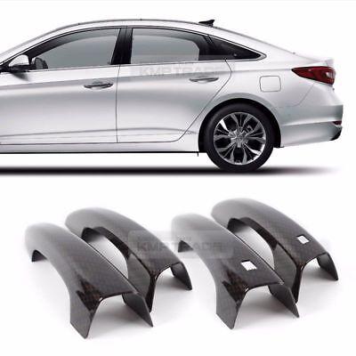 Door Handle Trim Carbon Molding Cover Garnish for HYUNDAI 2015-18 LF Sonata i45