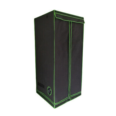 Indoor Portable Grow Tent Box Silver Mylar Hydroponics Green Room 60x60x160cm UK