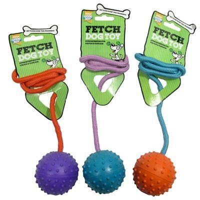 Dog Ball on Rope Good Boy Dogs Puppies Toy Toys  SAMEDAY DISPATCH
