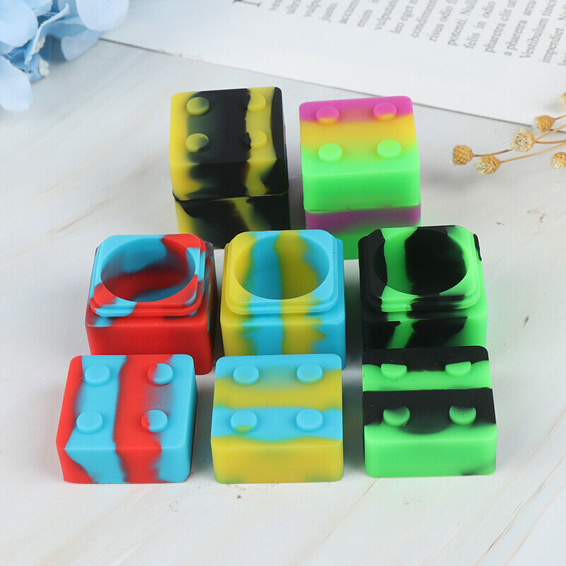 9Ml Square Silicone Non Stick Concentrate Containers Jar Mix