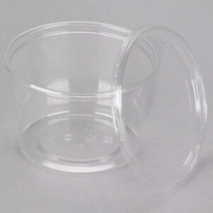 100 Clear Plastic Deli Containers 16 oz. with Lids