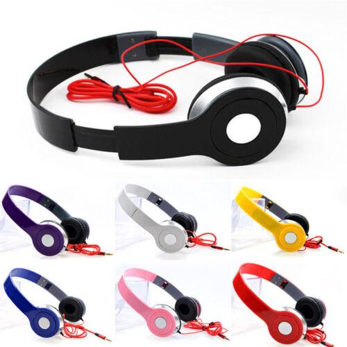 dj style stereo over ear headphones w