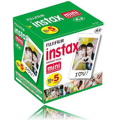50 Sheets Fujifilm Instax Mini Instant Film For Mini  SP-1 90 8 25 7S 50S Camera