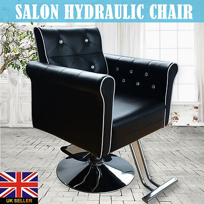 Black Classics Soft Barber Salon Hydraulic Chair Hairdressing Styling Shaving