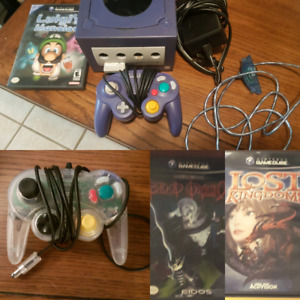 Nintendo GameCube with 3 games, 2 controllers and memory card