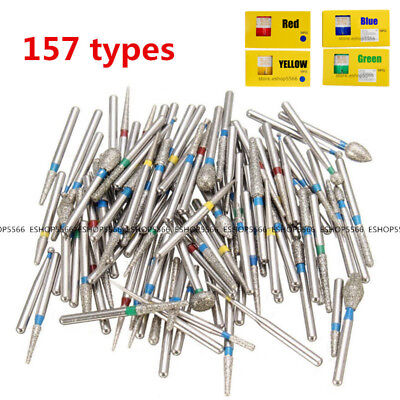 157 Types Dia-burs Diamond Burs For Dental High Speed Handpiece 5pcspack